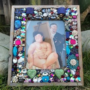 CUSTOM MADE BLING FERNANDO BOTERO FRAME